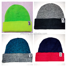 Mens Knit Hat Winter Beanie Hat with flapover