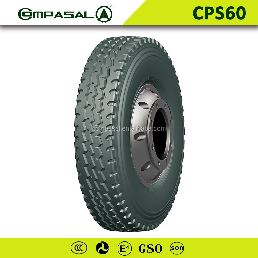 Heavy duty COMPASAL truck tire size 900r20