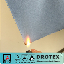 EN11611,EN11612 cotton material 220gsm pyrovatex cp flame retardant twill fabric for safety garment