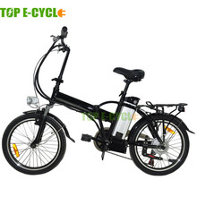 Top e-cycle 36V 10Ah lithum battery operated folding electric bike for kids