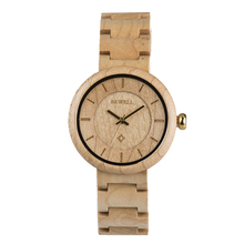 100% Natural Wood Watch double face watch