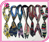 2016 fashion leather buckle fold long scarf Retro printing small silk scarves