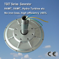 TGET200-0.1KW-350R Coreless PMG generator/wind alternator Outer rotor generator, three-phase permanent magnet alternator