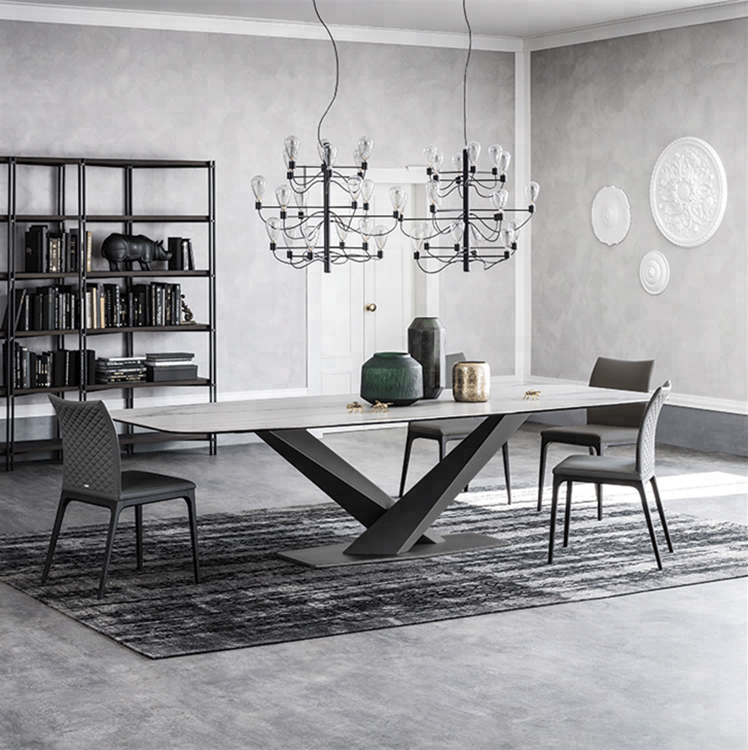 Good quality modern marble top dining <strong>table</strong> designs for dining room