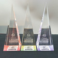pyramid shape crystal glass award for school award