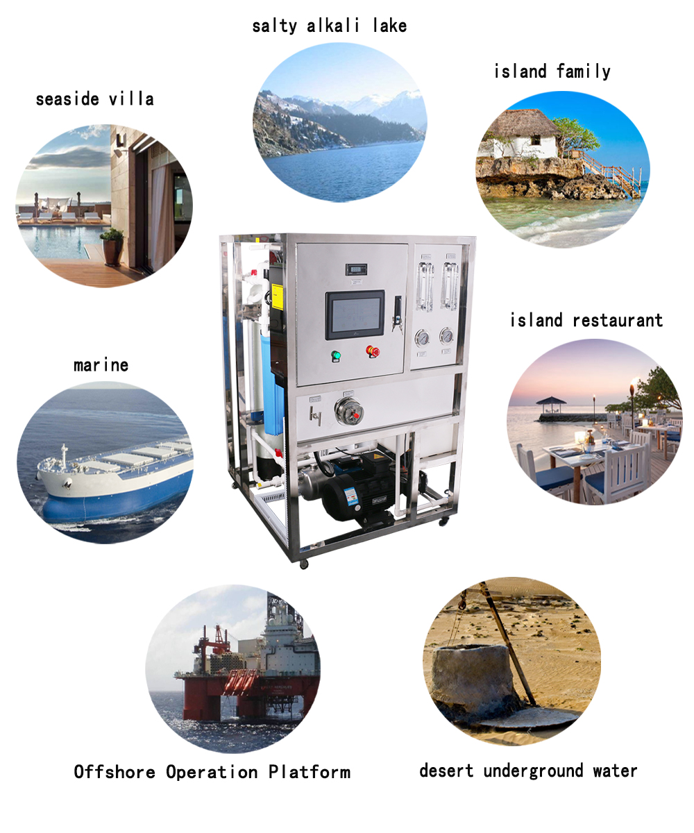 250L/hour used for outdoor boats drinking water sea water desalination equipment RO plant