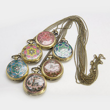 PandaHall Vintage erotic pocket watches necklaces wholesale watch(WACH-G006-M1)
