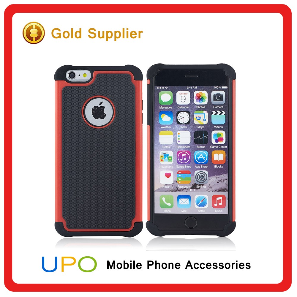 [UPO] 3 in 1 Shockproof Football Grain Silicone+PC Case Hybrid Skin Phone Cover for iPhone 6 4.7 inch