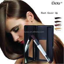cover root color with temporary hair dye power into natural color from professional hair beauty factory