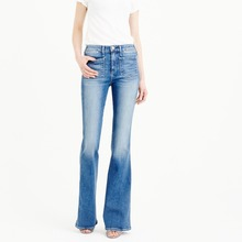 Women bell-bottom trousers custom jeans for wholesale