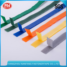 Customization Colorful 100% Nylon 12.5mm~160mm Soft Elastic Sliding Proof Hook And Loop