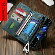 [CASEME]leather wallet case for Samsung S7/S7 edge, for Samsung s7/S7 edge wallet, for hot detachable cell phone wallet case