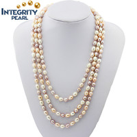 7-8mm 60 inch wholesale drop natural freshwater real pearl necklace price