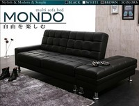 living room modern PU Sofa Bed /with Ottoman sofa Bed