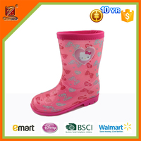 cheap PVC rain boots with printing for kids (150-230mm)