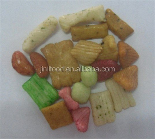 Puffed Mix color Rice Cracker for middle east market