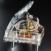 top grade crystal grand piano shape music box for wedding decoration