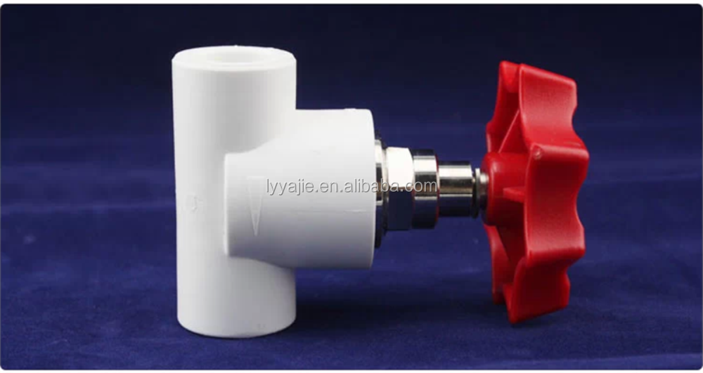 plastic ppr pipe fittings water stop valve