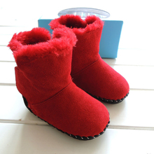 2016 Hot Baby Girls Shoes Soft Sole Toddler Winter Snow Boots Infant Red Cotton Boots Prewalker KS81205-135