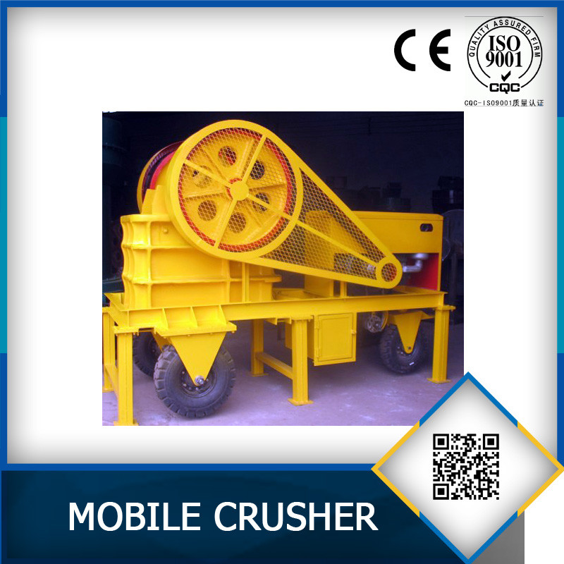 Mobile Diesel type jaw stone crusher for sale