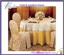 classical jacquard damask chair covers, polyester damask chair covers with pleats for banquet chairs
