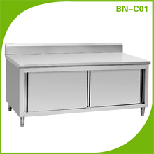 Stainless Steel Storage Cabinet with backsplash