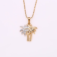 31718-xuping latest model fashion multicolor gold plated coconut tree plant pendant