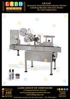 Automatic Horizontal Self Adhesive Sticker Labelling Machine with Auto Feeder for Label Application