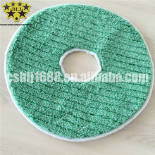 China factory direct microfiber circular coral fleece with hard silk cleaning mop in machine