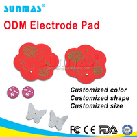 SM116 PET PP electrode silicone vibrating massage heat pad