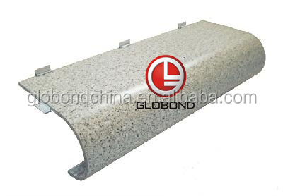 GLOBOND Stone Finish Aluminum Panel/ Prefabricated Aluminium Curved Panel