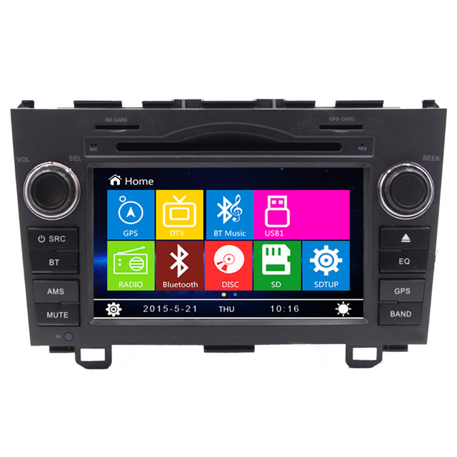 "7"" Car DVD Player GPS Navigation For Honda CR-V CRV 2006 2007 2008 2009 2010 2011 with TV Ipod RDS Radio Steering wheel Control"