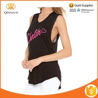 Street Style Ladies Fashion Sexy Black Casual Tank Top Biker Vest Tees T-Shirt