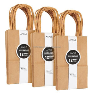 China supply custom package brown kraft paper bags