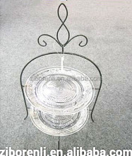 Wedding Dessert Serving Beautiful Large 2 Tiered Round Chic Metal Vintage Cake Stand
