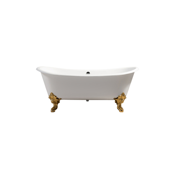with 7'' rim holes 72-inch retro 2 person clawfoot bathtub