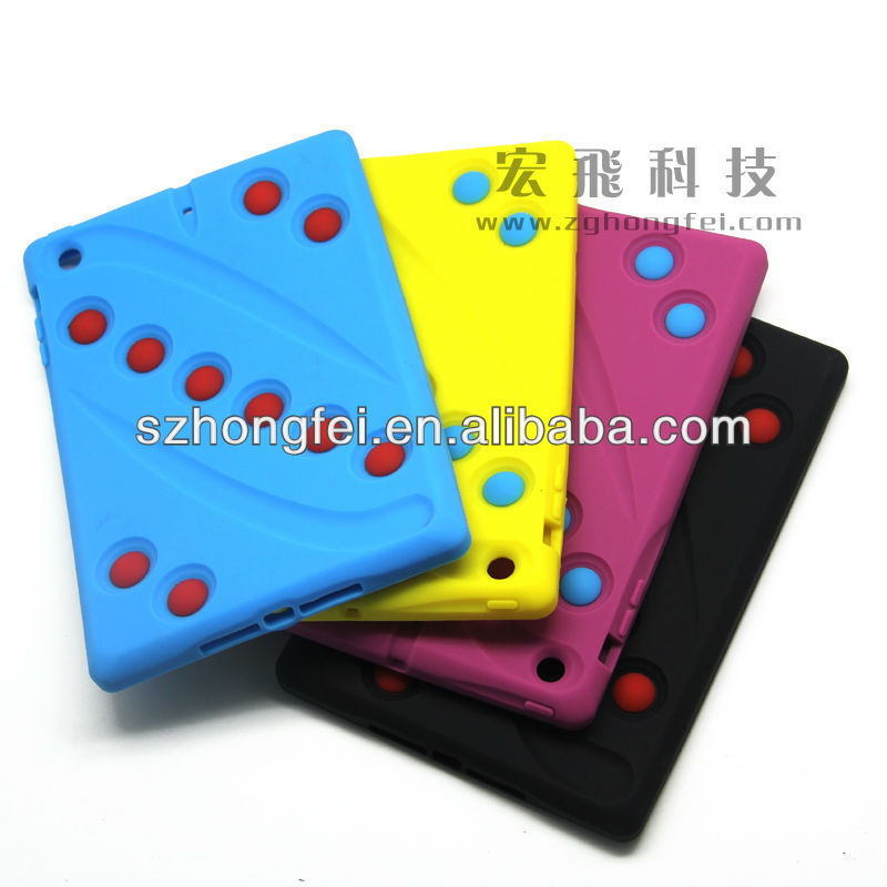 China factory 2014 newest design hot sale cute silicone molds custom waterproof china anti-shock for kids ipad case