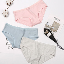 2018 New Women Panties Fresh Middle Waist Pure Cotton <strong>Underwear</strong>