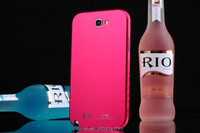 For Samsung Galaxy Note2 New Metal Back Cover battery door case hot pink