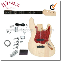 Unfinished DIY Electric Bass Guitar Kits (EBS100-W)