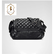 China Supplier Latest PU Leather Black Cross Body Bags For Young Ladies Litch Pattern