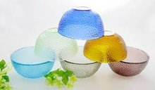 Multi Color Glass Fruit Bowl Set