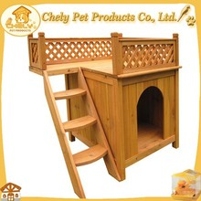 Antiseptic Timber Dog House/pet kennel/puppy house with double decker and steps