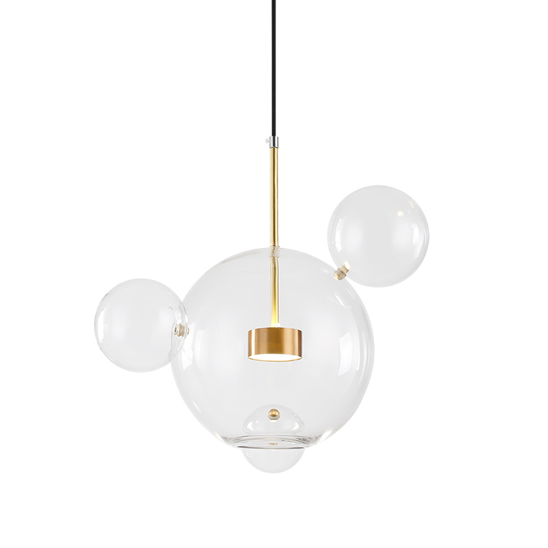 Fashion Clear Glass Ball Pendant Lights Modern Chandelier Art <strong>Lamps</strong> For Hotel Home Kitchen