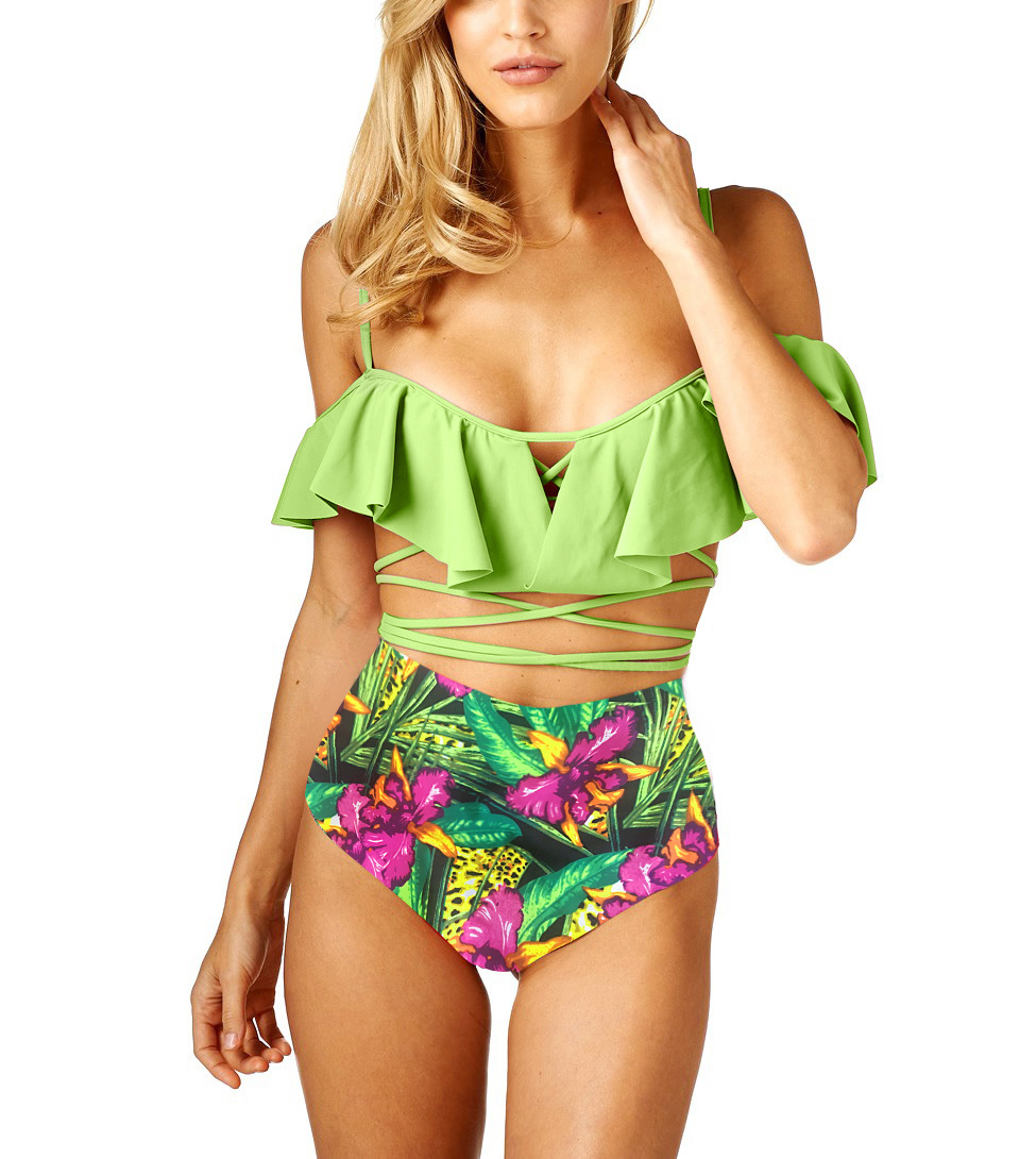 hot sale Ruffles Bandage bathing suits swimsuits for Women 2017