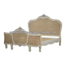 French Bed with Rattan