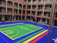 vmkon elastic plastic interlock floor tile basketball sports court flooring vsa-303010