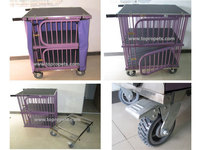 innovative dog trolley, dog cage,pet dog show trolley