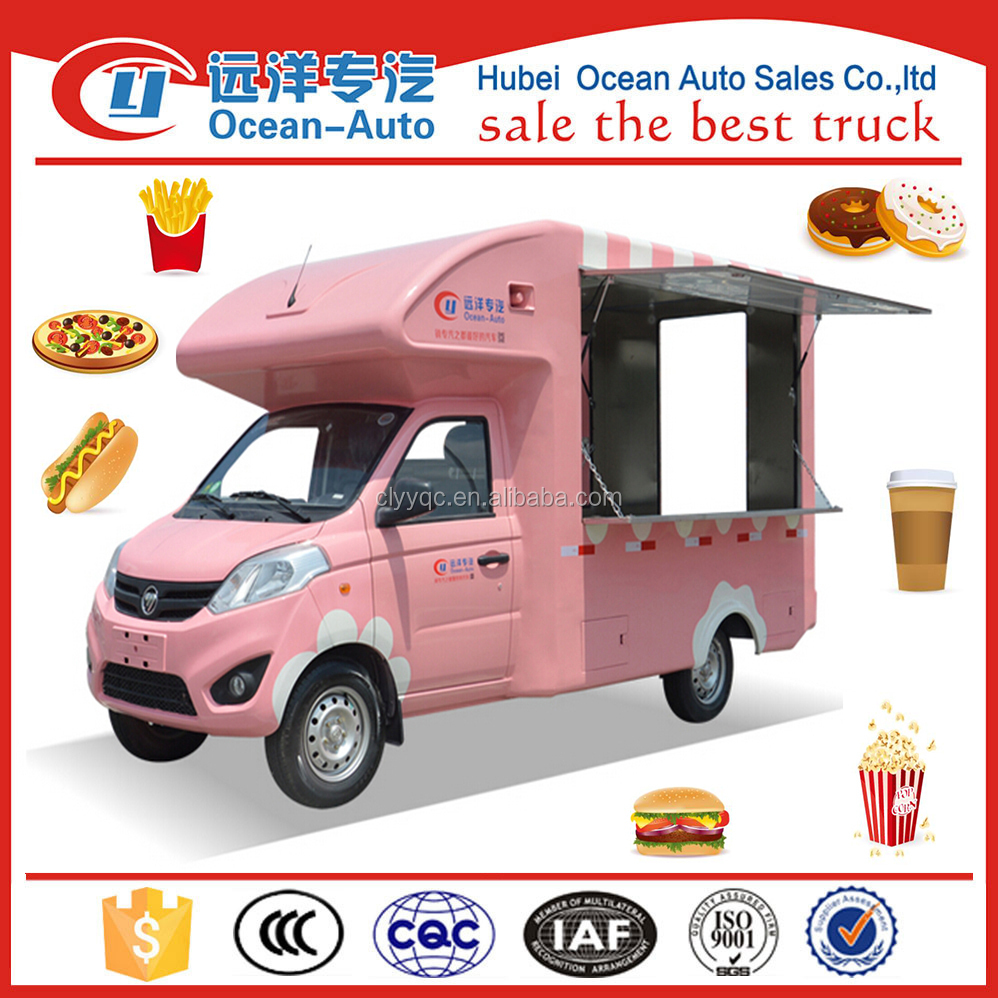 Foton mobile food truck , new sale truck fast food vehicle
