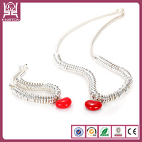 alibaba wholesale red heart pendant 925 sterling silver chain